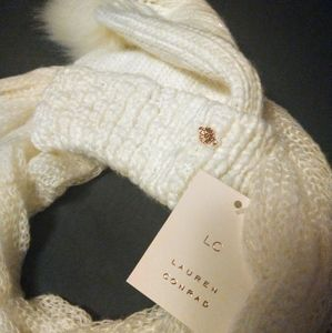 LC Lauren Conrad Hat and Scarf